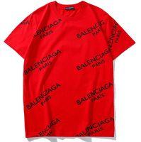 ingrosso donne di grandi dimensioni-BB Summer Street indossare Europa Parigi Moda uomo alta qualità Balenciaga Big Broken Hole Cotton Tshirt Casual T-Shirt donna T-shirt S-2XL