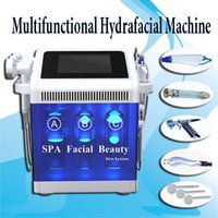 Wholesale facial frequency machine for sale - hydra dermabrasion hydra facial machine Cryotherapy cold Therapy Acne Treatment Ionic Blood Vessels Removal High Frequency Skin Rejuvenation