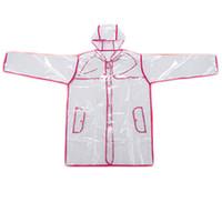 vinil yağmur toptan satış-Şeffaf Vinil Yağmurluk Kadınlar See Through Şeffaf Yağmurluk PVC Yağmurluk Ceket