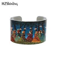 pulseras bohemias de metal al por mayor-Bohemian Gypsy Goddess metal cuff queen Bohemian bracelet bruja joyas hechas a mano Tarot saludo brazalete Tarjeta Pitt mitología