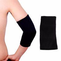 black elbow gloves al por mayor-1 UNID Elastic Sports Negro Codo Manga Brace Soporte Artritis Brace Manga Soporte Guante Elástico Palma Mano Muñeca Soporta HY8s