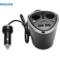 Wholesale phone philips for sale – best PHILIPS DLP2029 Double USB Car Cigarette Lighter V A Quick Charge Mobile Phone Car charger adapter