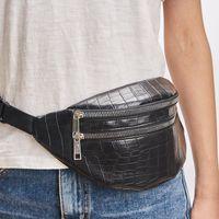 pacotes de mensagens venda por atacado-Belt Bag cintura Packs para Mulheres Designer Marca de luxo Saco de alta qualidade Crocodile Mulheres PU Leather Bag Bloco de Fanny Mensagem Bags