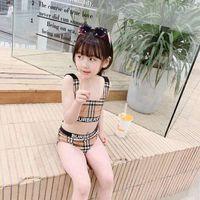 schwimmen tutu großhandel-Neu kommen Modemarke Badebekleidung Kinder Sommer Mädchen Schwimmen Bikinis Set zwei Stücke Baby Mädchen Badeanzug Kinder