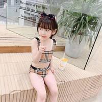 ingrosso ragazzi bikini tutu-Nuovo arriva marchio di moda Costumi da bagno Estate per bambini Ragazze Nuoto Bikini Set Due pezzi Neonate Costume da bagno per bambini