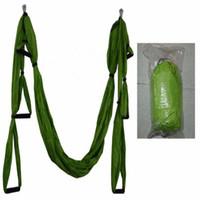 yoga swing venda por atacado-Inversão Trapézio Anti-Gravidade Tracção Aérea Yoga Ginásio cinta yoga Swing Set Força Descompressão Hammock YHM001
