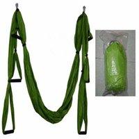 ingrosso yoga swing-Inversione Trapezio Anti-Gravity Aerial Traction Yoga Gym strap Yoga Altalena Set Forza Decompressione Amaca YHM001