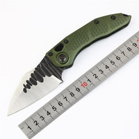 Wholesale green camping gear online - Stitch II Flipper folding pocket knives M390 blade Army Green Aluminum handle EDC Tactical camping hunt knife Outdoor gear P976M F