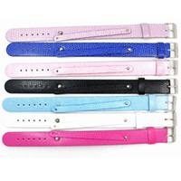 Wholesale 8mm letters accessories resale online - Fashion Jewelry Bracelets MM PU Leather Wristband Bracelets quot Color quot pieces DIY Accessory Fit Slide Letter LSBR013