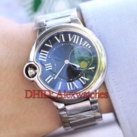 Wholesale round nude balls resale online - Luxury Mens Women Watches Blue Ball L Stainless Steel Case Bracelet Wristwatches Fashion Casual Automatic Watch Waterproof montre de luxe