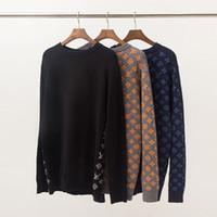 sudaderas de punto al por mayor-Todo nuevo diseñador de moda de la marca de moda de manga larga hombres mujeres suéteres prendas de punto de invierno de manga larga sudadera ropa medusa sudor