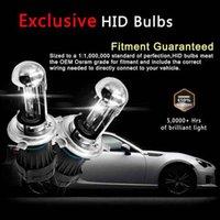 h4 gizli dönüştürme kitleri toptan satış-İnce Balastlı 2PCS 55W HID Xenon Dönüşüm Kiti - H4-3 9003-6000K - 2 Ampüller 2 Balastlar