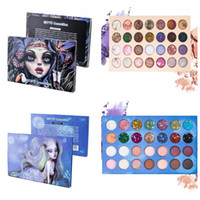 Wholesale 28 palette natural for sale - Beautiful Witch Mermaid Eyeshadow Palette Color Blue Starry Sky Shimmer Glitter Eye Shadow Plate Powder Matte Eyeshadow