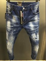 nova moda masculina jeans americanos venda por atacado-2019 novo verão homens buraco calça jeans shorts dos homens da moda jeans slim calça reta tendência dos homens designer de calça carrinho europeu e americano