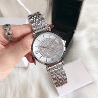 серебряные часы оптовых-Хорошие хорошие новые часы Роскошные серебряные модные женские часы из нержавеющей стали роскошные бриллианты женские наручные часы женские часы оптовые прямые поставки