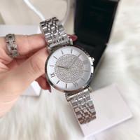 bom relógio venda por atacado-Bom bom novo relógio de luxo de prata moda mulher relógio inoxidável stell luxo diamantes mulheres relógio de pulso senhora whosale dropshipping