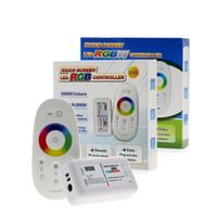 led-streifen bildschirm großhandel-RGBW / RGB LED Controler Touch Screen 2.4G DC12-24V 18A Fernbedienungskanal für RGB / RGBW-Streifen