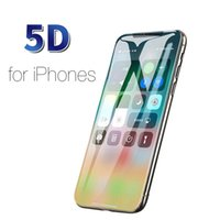 protectores de vidrios templados al por mayor-Cristal templado protector de teléfono 1pc para 6 7 6s 8 Plus XS Max XR glass X Protector de pantalla Glass On