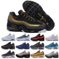 authentische markenstiefel großhandel-Nike Air Max 95 ropfen-Verschiffen-Großverkauf-laufende Schuh-Mann-Kissen-Turnschuh-Aufladungen authentische neue gehende Diskont-Sportschuhe Größe 36-46