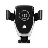 один x автомобиль оптовых-10 Вт автомобильное беспроводное зарядное устройство держатель мобильного телефона одна кнопка функция поиска автомобиля ДЛЯ: iphone8 plus X Samsung S8 + S9 + быстрая зарядка