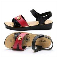 бежевый богемный сандал оптовых-Женская обувь на танкетке Sandalias Mujer 2019 Летняя женская обувь Богемские сандалии Женская обувь Красный Бежевый # 79