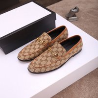 Wholesale flower drive resale online - High quality original men s luxury shoes brand fashion classic wild men s casual shoes comfortable breathable flat driving shoes