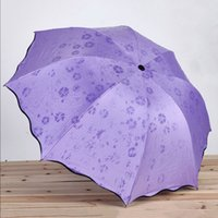 mädchen blumen regenschirm großhandel-Magic Flower Dome UV-Schutz Sun Rain Taschenschirme Regen Frau Simple Fashion Women Umbrella Windproof Sunscreen Mädchen