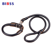 Wholesale thick dog collars resale online - Thick PU Leather Dog Collar and Leashes Set Black Red Brown Pets Walking Training Lead Leash For Big Large dogs Pitbull etc