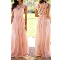 Wholesale wedding bridesmaid dresses light peach for sale - Group buy 2019 New Peach Pink Cheap Bridesmaid Dresses Chiffon Floor Length Pleated Maid of Honor Dresses Long Wedding Party Dresses
