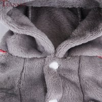 Wholesale dog rompers resale online - Transer Koala Shape Cute Dog Jumpsuit Pet Dog Winter Clothing Soft Fleece Animal Cat Puppy Small Dog Rompers Tracksuits