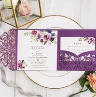 Pocket wedding-invitations with glittery belly band burgundy pocket tri-folding customized laser cut fall winter weedi(no inner no envelope)