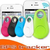 buscador de llavero al por mayor-Bluetooth Smart trazador localizador GPS Itag alarma Monedero buscador de la llave llavero Itag animal doméstico del perro rastreador perdida anti del niño del coche del teléfono Recuerde