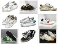 ayuda de cuero al por mayor-Alta calidad gdb Low help estilo viejo zapatillas de deporte de cuero genuino velloso Dermis zapatos casuales para hombre y mujeres entrenador Superstar de lujo 36-45