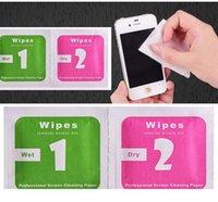 adesivos limpos da tela venda por atacado-Wet Wipes Lavagem a seco Remoção Absorber poeira de papel adesivo para Camera Lens Optical LCD Screen Cleaner para o iPhone 8 7 6 6s