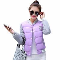 mulheres casam a moda coreana venda por atacado-2018 Nova jaqueta de inverno mulheres Coréia uniforme de moda jaquetas quentes casaco de inverno mulheres de algodão feminino parkas jaqueta de inverno das Mulheres