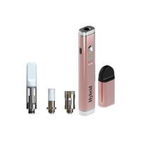 Wholesale vaping pen starter kits for sale - Group buy Newest vape pen e cigarette starter kit wax vape pen compatible thread vaping pen battery device for extract