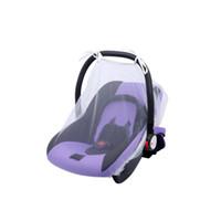 cobertura de rede bebê venda por atacado-Carrinho de bebê Redes de Verão Seguro Tampa de Transporte Do Bebê Mosquiteiro Bebê Stroller Bed Net Respirável legal Anti-mosquito Covers GGA2284