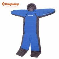 açık yetişkin uyku tulumu toptan satış-KingCamp tembel çanta turist uyku tulumu yetişkin kamp ekipmanları 190 cm Longth Açık seyahat Sıcak ve özgürlük Büyük boy