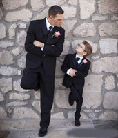 Wholesale images boy rings resale online - Black Custom Made Wedding Tuxedos Slim Fit Mens Suit Three Pieces Ring Bearer Groom Formal Flower Boy Suits Jacket Pants Vest