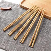 ingrosso set regalo di chopstick cinese-Bacchette cinesi da 10 paia Bacchette da tavola in legno naturale fatte a mano creative creative Bacchette regalo Vendita calda