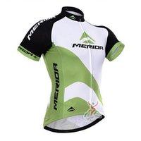 vêtements merida achat en gros de-2019 MERIDA team Maillots De Cyclisme Manches Courtes D'été Cyclisme Chemises Vélo Vêtements Porter Du Vélo Confortable Respirant Chaud Nouveaux Maillots 60602
