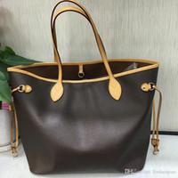 Wholesale famous brand purses resale online - Oxidize Leather Purse GM Never full Bag MM Neverful Bag Genuine Leather Handbag Designer Shopping Bag Famous Brand Purse Shoulder Bags