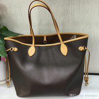 Wholesale cell phones mm for sale - Group buy Oxidize Leather Shopping Bag NF Designer Brand Real Leather Purse High Quality Handbags Branded Handbag PVC Purse GM MM Bag Initinals Bags