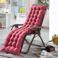 cadeira reclinável venda por atacado-Lounge Chair Cushion adornado macio plataforma Chaise Padding Outdoor Patio Piscina reclinável