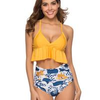 bikini taille haute orange achat en gros de-Femmes Vêtements Deux Pièces Ensembles Nouvelle Explosive Split Designer Maillot de bain Jarretelle avec Pantalon Taille Haute Maillot De Bain Bikini