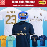 Wholesale real madrid new soccer jersey for sale - Group buy New Real Madrid HAZARD Soccer Jerseys Kids kit Home MODRIC MARCELO Third VINICIUS JR KROOS ISCO BALE EA Football Shirts