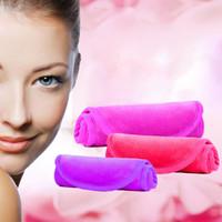 heiße handtücher großhandel-40 * 17 cm entladung make-up towel wiederverwendbare mikrofaser frauen gesichts tuch magic face towel make-up entferner hautreinigung waschen handtücher heißer gga2664