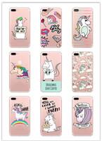 animar manzana al por mayor-Para Apple iPhone 7 8PLUS XR X MAX Muchos Diseño Unicornio Animado Fundas de Teléfono de Dibujos Animados de TPU de Unicornio