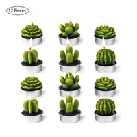 Wholesale silicone molds wedding for sale - Group buy 12Pcs Succulent Plants Mold Cactus DIY Aroma Gypsum Plaster Silicone Candle Molds Home Wedding Birthday Party Decoration