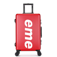 чемоданы высокого качества оптовых-CARRYLOVE Персонализированные настройки 20/22/26 дюймов ПВХ + ПК высокого качества Роллинг Камера Spinner бренда Чемодан для путешествий